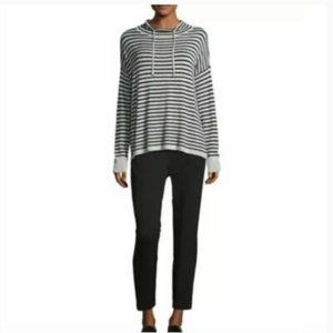 EILEEN FISHER Stripe Cowl Neck Sweater Size XL
